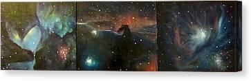 Nebula Triptych Canvas Print by Alizey Khan