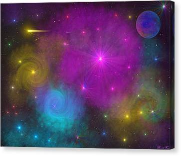Canvas Print featuring the photograph Nebula Wars by Bernd Hau