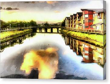 Canvas Print featuring the photograph Necanium River Seaside by Thom Zehrfeld