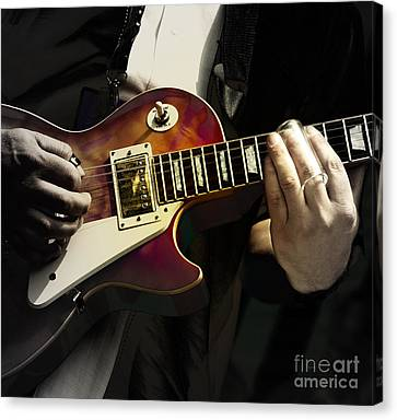 Necking The Blues Canvas Print by Steven Digman