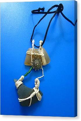 Necklace 2 Canvas Print by Lorna Diwata Fernandez