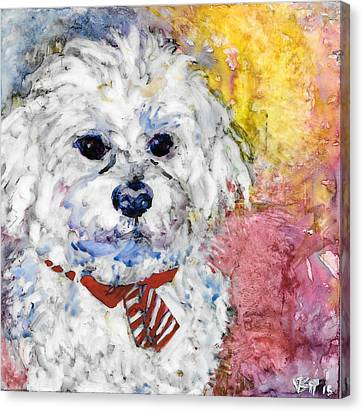Necktie Canvas Print by Vanessa Baladad