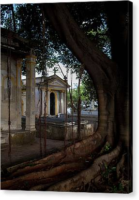 Canvas Print featuring the photograph Necropolis Cristobal Colon Havana Cuba Cemetery by Charles Harden