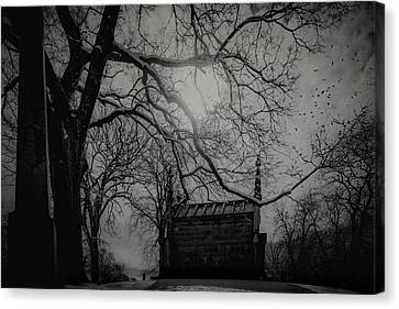 Canvas Print featuring the digital art Necropolis Nine by Chris Lord