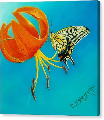 Canvas Print featuring the painting Nectar  by Christie Minalga