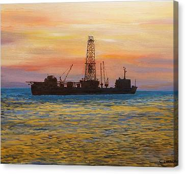 Neddrill 2   Canvas Print by Colin Evans