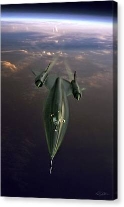 Need For Speed A-12 Oxcart Canvas Print by Peter Chilelli