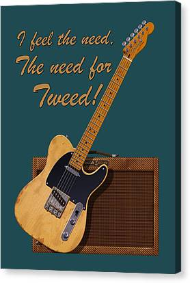 Need For Tweed Tele T Shirt Canvas Print