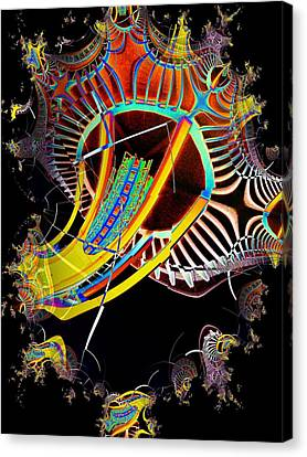 Needle In Fractal 2 Canvas Print