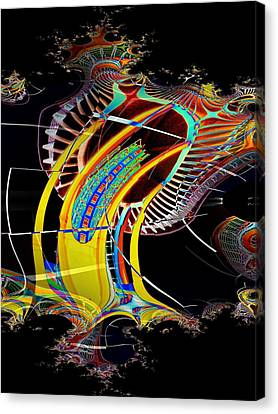 Needle In Fractal 4 Canvas Print by Tim Allen