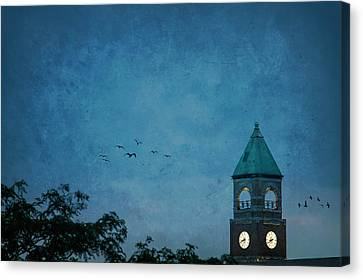 Canvas Print featuring the photograph Neenah Clocktower by Joel Witmeyer