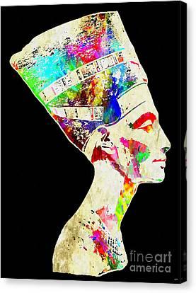 Nefertiti Grunge Canvas Print by Daniel Janda