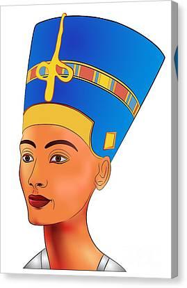 Nefertiti - Queen Of Ancient Egypt Canvas Print