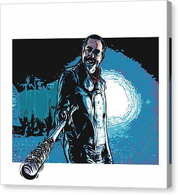 Canvas Print featuring the digital art Negan by Antonio Romero