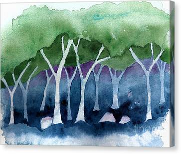 Negative Thinking Makes A Woodland Scene Canvas Print