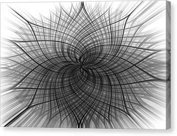 Canvas Print featuring the digital art Negativity by Carolyn Marshall