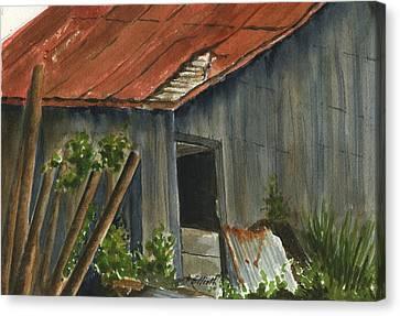 Neighbor Don's Old Barn 2 Canvas Print