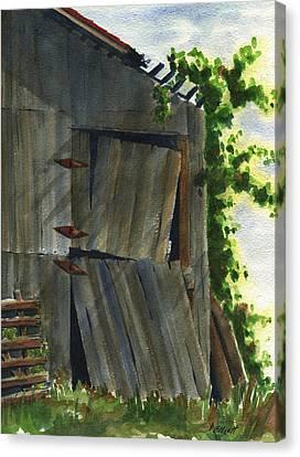 Neighbor Dons Old Barn 3 Canvas Print
