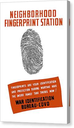 Neighborhood Fingerprint Station Canvas Print by War Is Hell Store