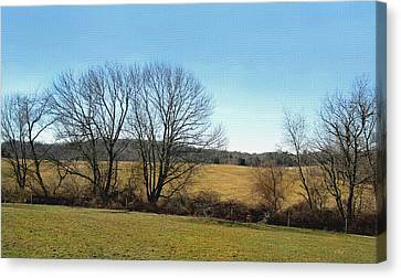Neighboring Fields Canvas Print by Gordon Beck