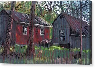 Neighbor's Barns Canvas Print