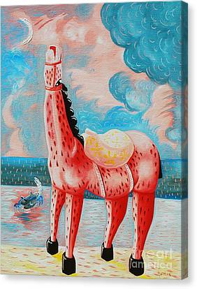 Neighing Canvas Print by Jose Luis Montes