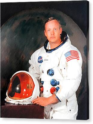Neil Armstrong Canvas Print by Ericamaxine Price
