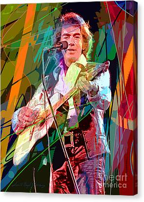 Neil Diamond Hot August Night Canvas Print by David Lloyd Glover