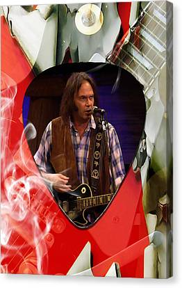 Neil Young Art Canvas Print by Marvin Blaine