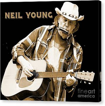 Neil Young Poster Canvas Print by John Malone