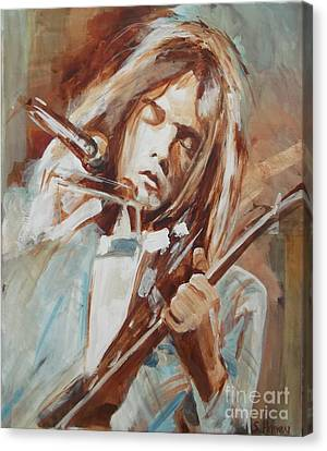 Neil Young Canvas Print by Sandra Haney