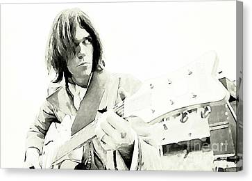 Neil Young Watercolor Canvas Print by John Malone