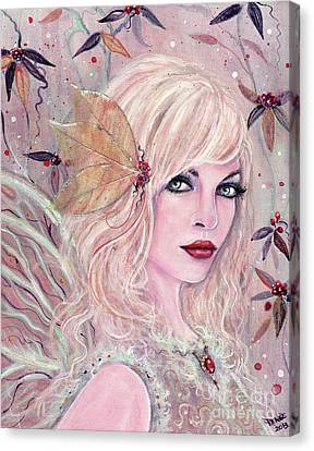 Neira Winter Fairy Canvas Print by Renee Lavoie