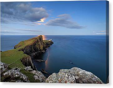 Neist Point Under The Moonlight Canvas Print by Davorin Mance