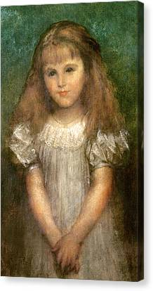 Nellie Ionides Canvas Print by George Frederick Watts