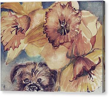 Canvas Print featuring the painting Nellie Mae by Mindy Newman