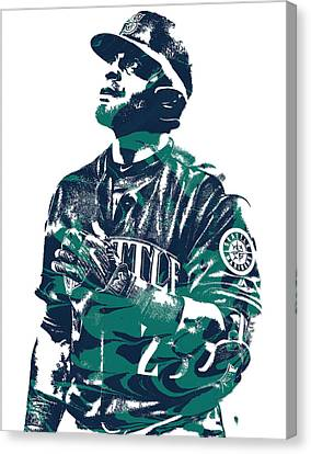 Nelson Cruz Seattle Mariners Pixel Art 4 Canvas Print