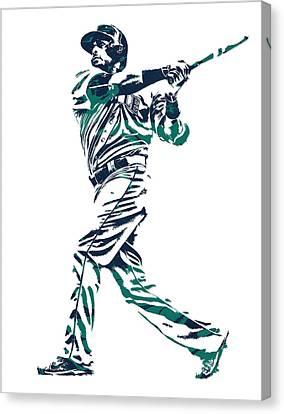Nelson Cruz Seattle Mariners Pixel Art 6 Canvas Print