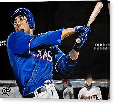 Nelson Cruz Canvas Print by Tom Carlton
