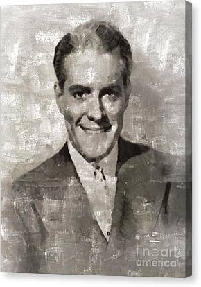 Nelson Eddy, Vintage Actor Canvas Print by Mary Bassett