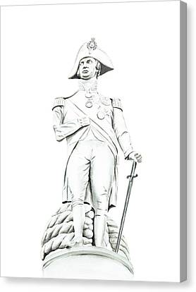 Canvas Print featuring the painting Nelson by Elizabeth Lock