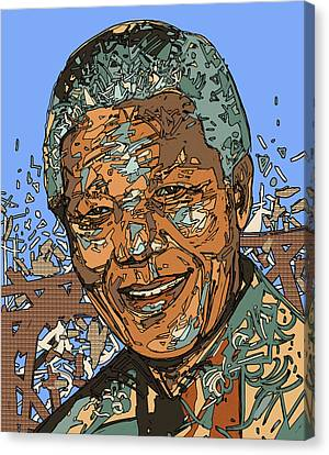 South Africa Canvas Print - Nelson Mandela 2 by Bekim Art
