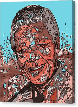 South Africa Canvas Print - Nelson Mandela 3 by Bekim Art