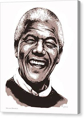 Nelson Mandela Canvas Print by Greg Joens
