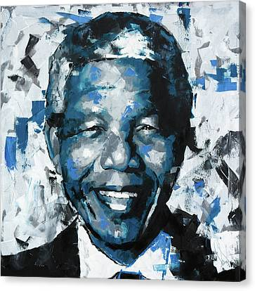 Nelson Mandela II Canvas Print