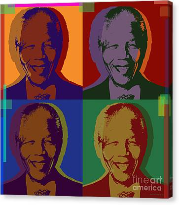 Nelson Mandela Pop Art Canvas Print