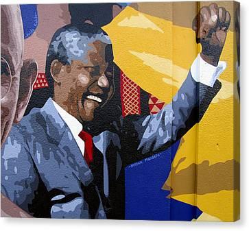 Nelson Mandela Canvas Print by Roberto Valdes Sanchez