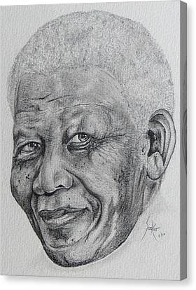 Nelson Mandela Canvas Print by Stephen Sookoo