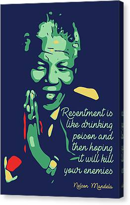 South Africa Canvas Print - Nelson Mandela by Greatom London
