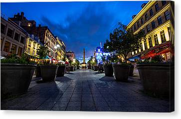 Heritage Montreal Canvas Print - Nelsons Column by James Wheeler